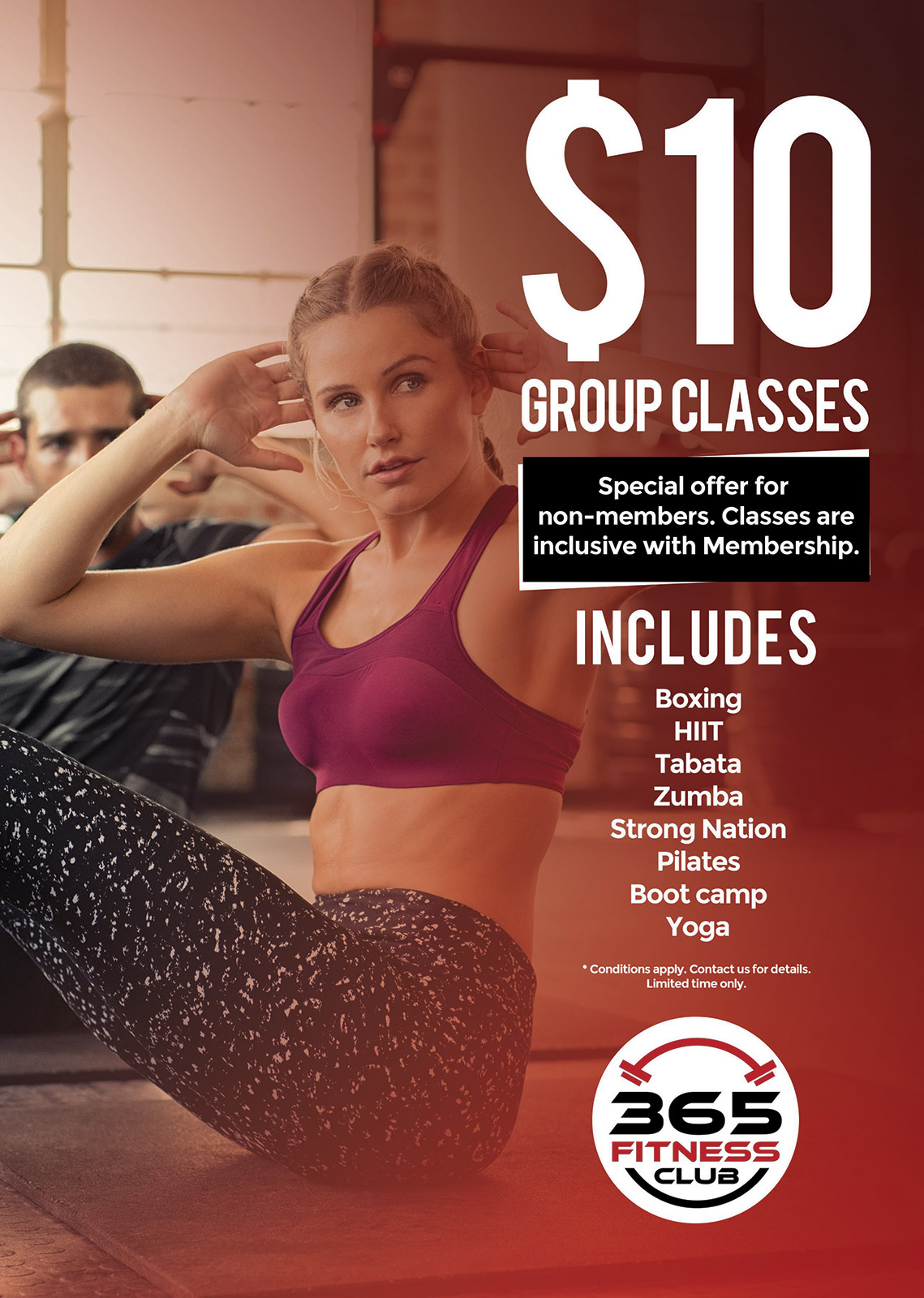 $10 Group classes